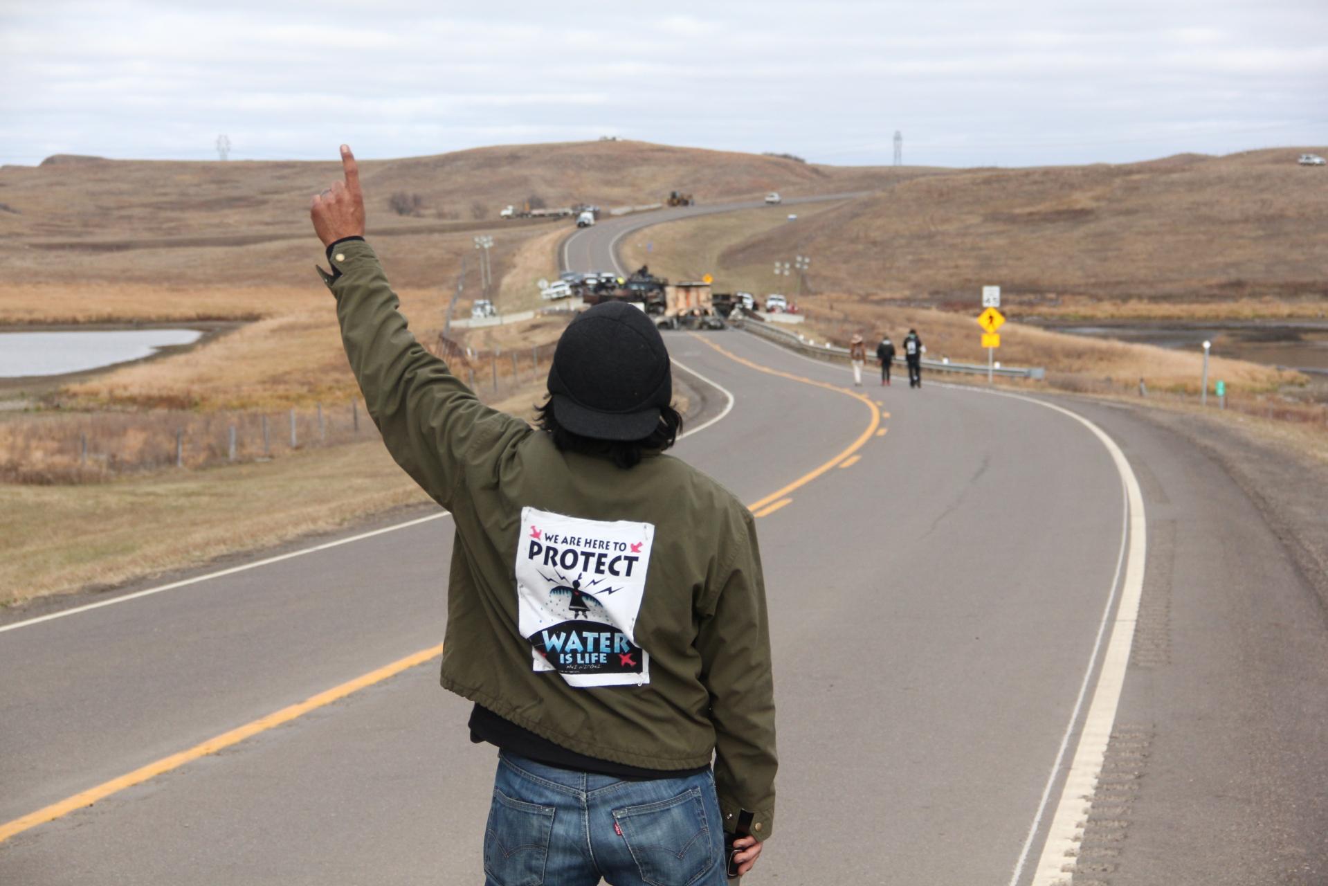 nd-protestor-at-roadblock
